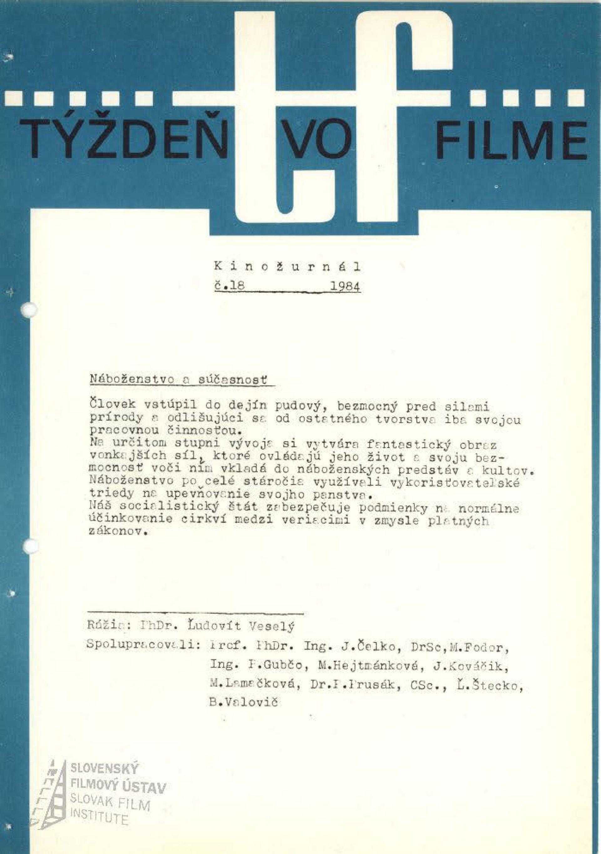 Kinožurnál 18/1985