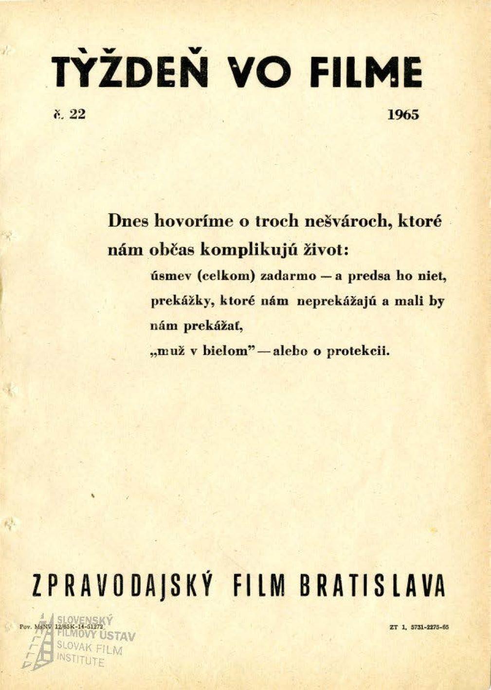 Týždeň vo filme 22/1965