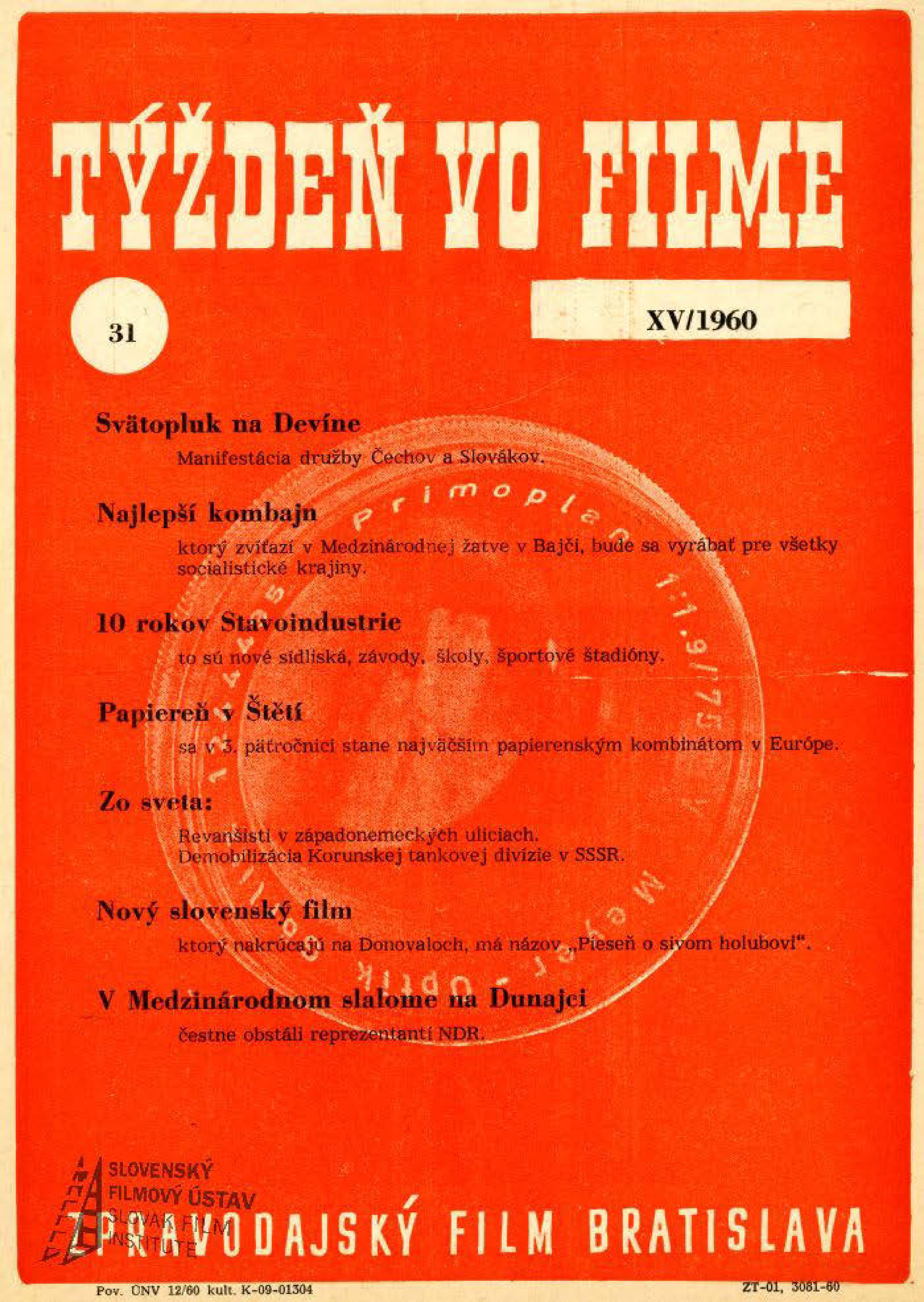 Týždeň vo filme 31/1960