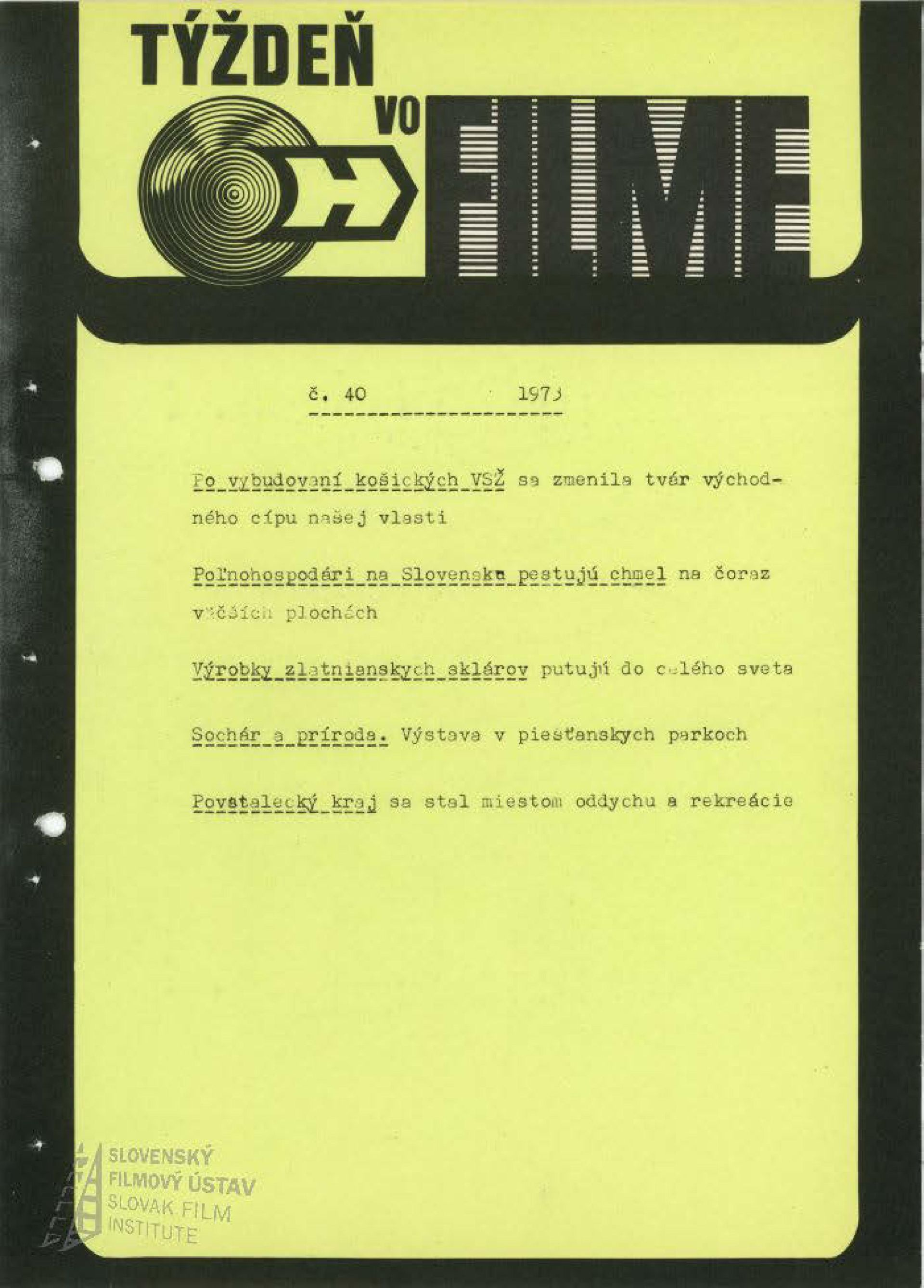 Týždeň vo filme 40/73