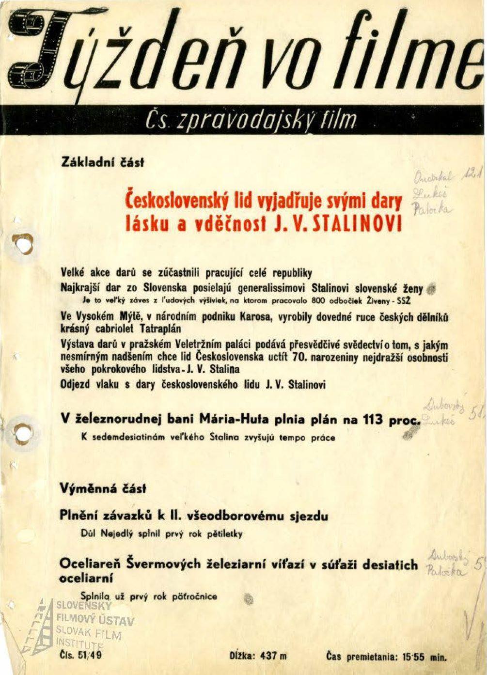 Týždeň vo filme 51/1949