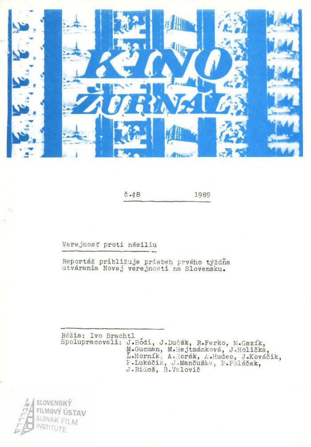 Kinožurnál 48/1989