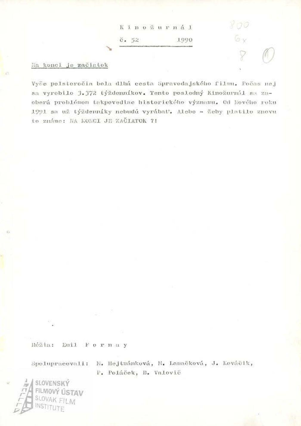 Kinožurnál 52/1990