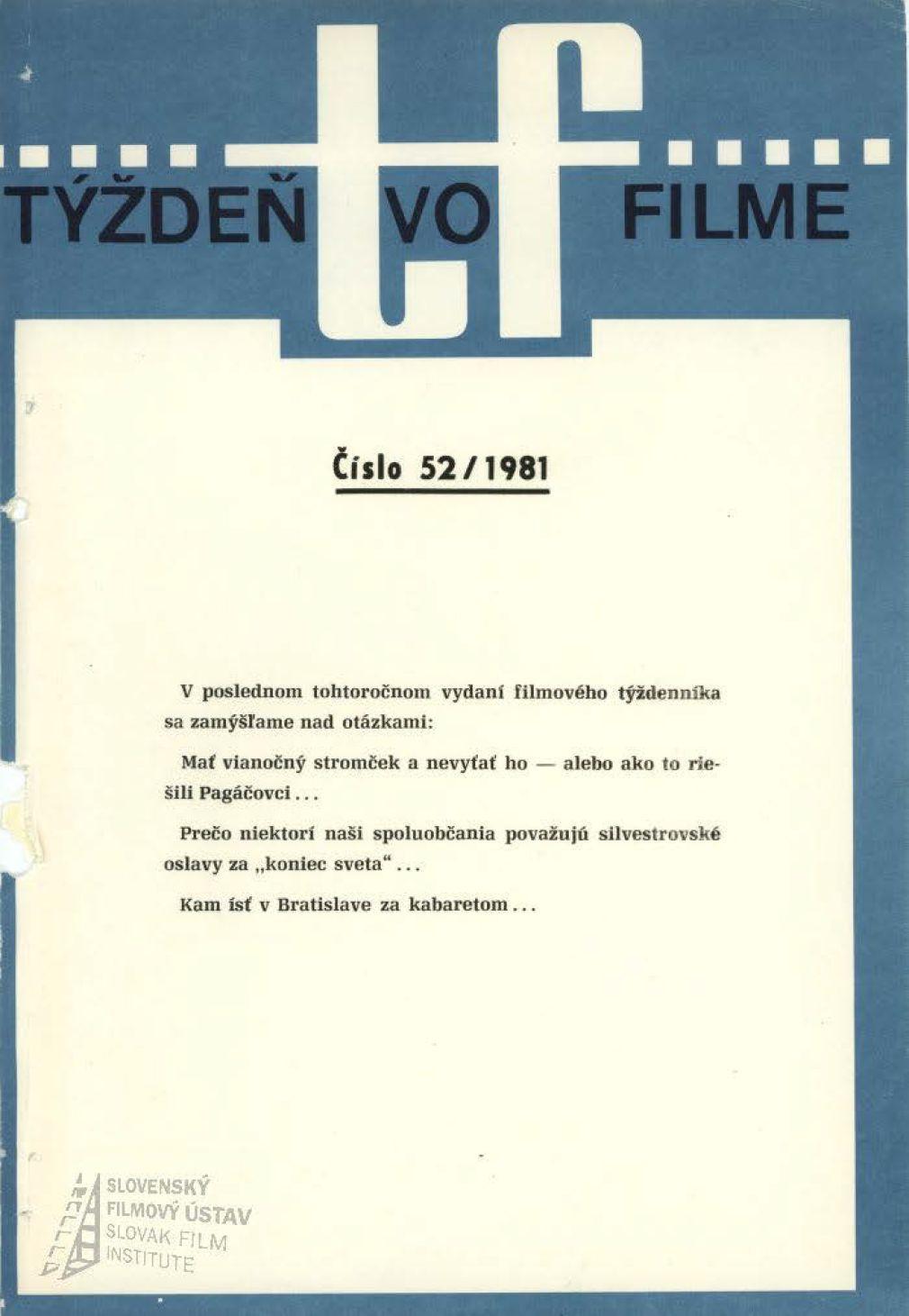 Týždeň vo filme 52/1981