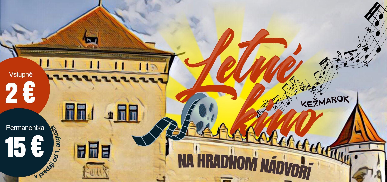 Letné kino na hradnom nádvorí